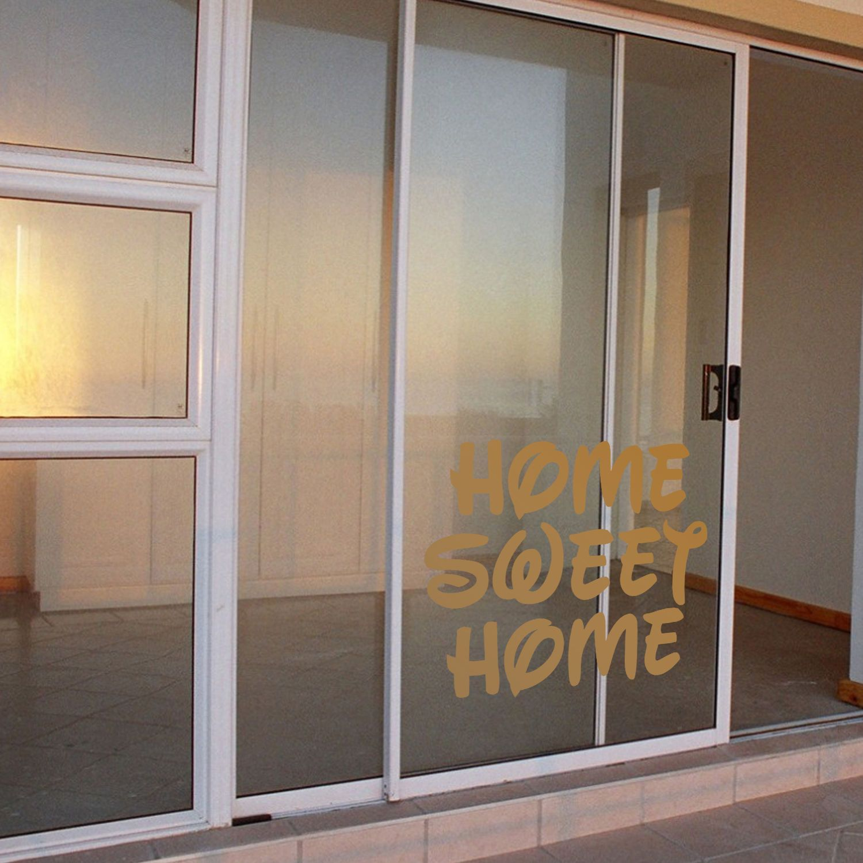 Home sweet home decal sticker for home door room bathroom windows