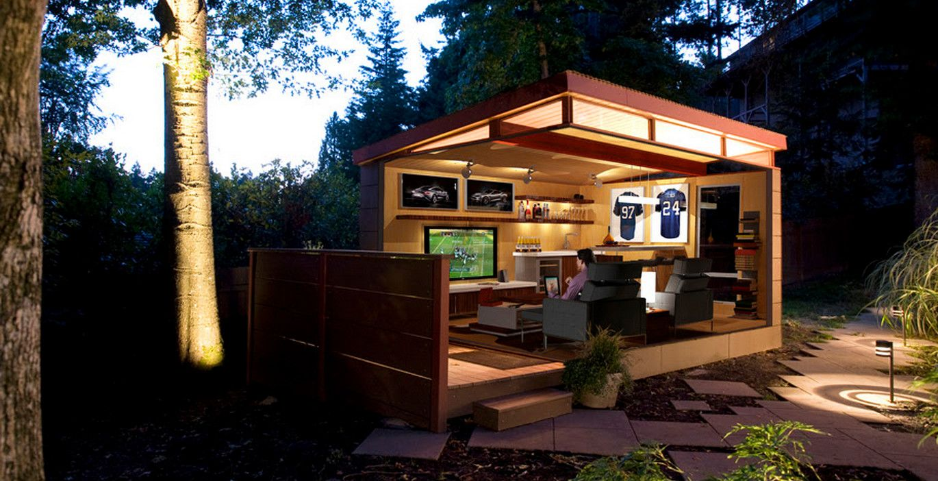 Outdoor Man Cave Shed Brilliant Ideas