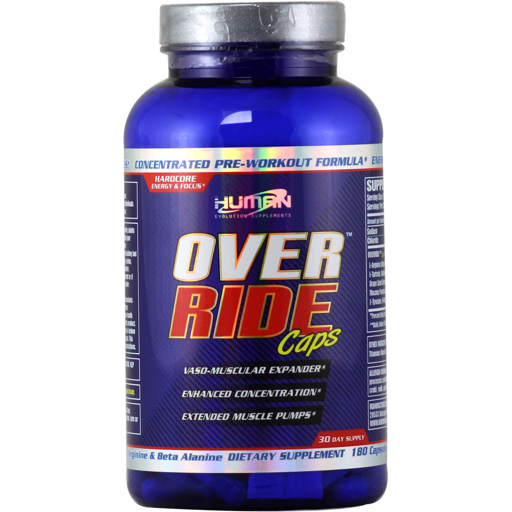 Human Evolution Supplements Override 180 capsules   Regular Price: $67.99, Sale Price: $42.99   OvernightSupplements.com   #onSale #supplements #specials #HumanEvolution #PreWorkout    Override Caps The best and convenient Pre workout in the market has arrived to your hand to avoid delays in your training and that usual mess you make in your car or at the locker room when you are trying to mix your preworkout Powder all over your car your pantsAll over the place How many time