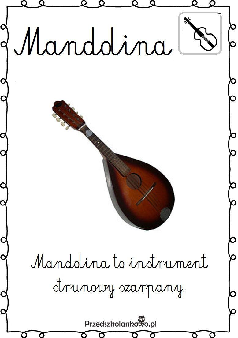 Instrumenty Muzyczne Plansze Zestaw 2 Przedszkolankowo Music Education Primary School Kids Learning