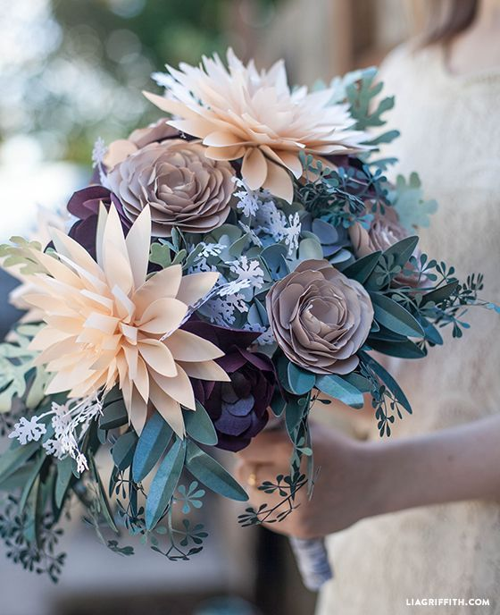 DIY Rustic Paper Bridal Bouquet | Bridal bouquets, Flower and Diy paper