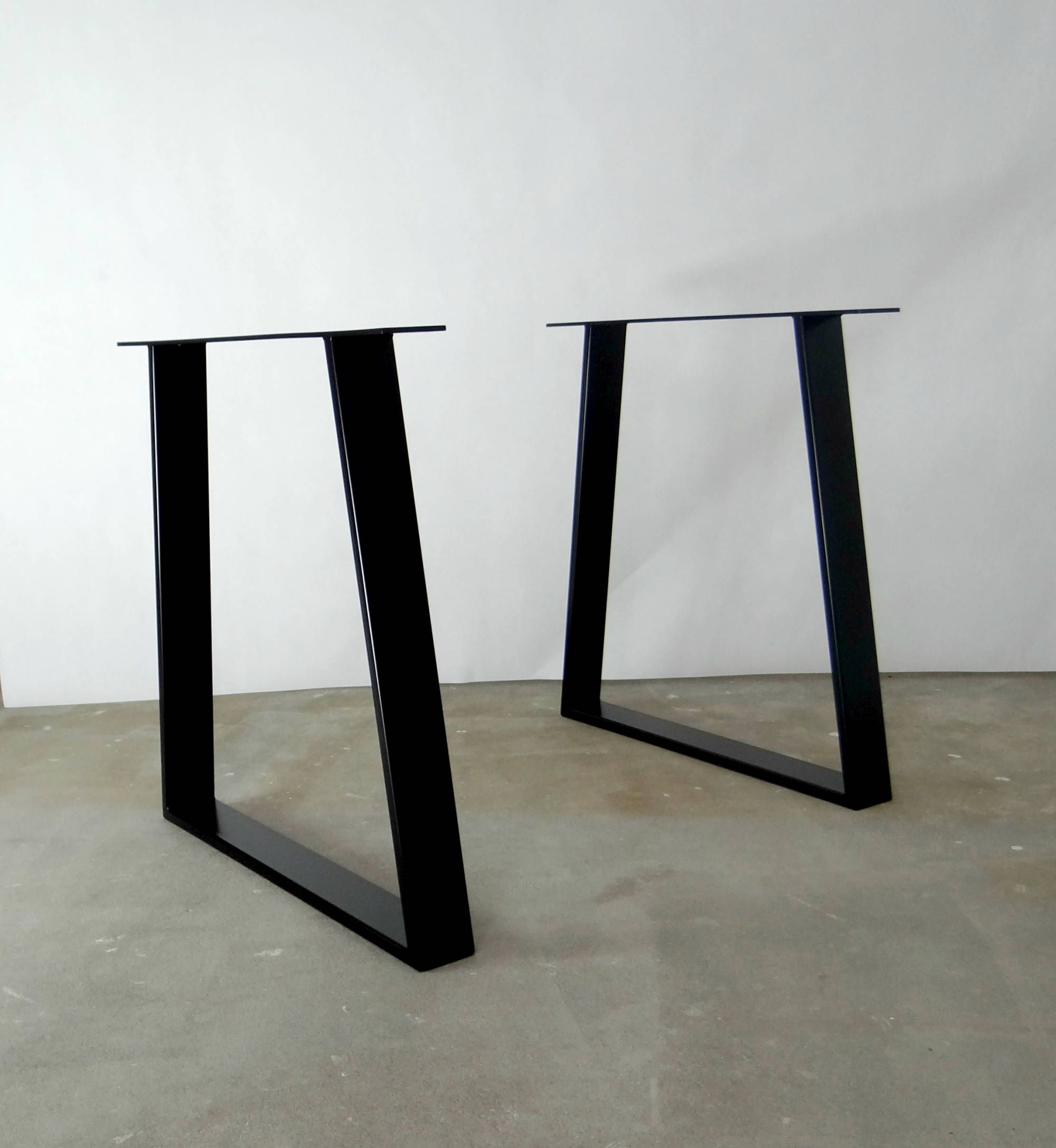 contemporary metal furniture legs. Steel Dining Table Legs (set Of 2). Modern Metal Kitchen Legs. Industrial Gold Base. Trapezoid For Contemporary Furniture E