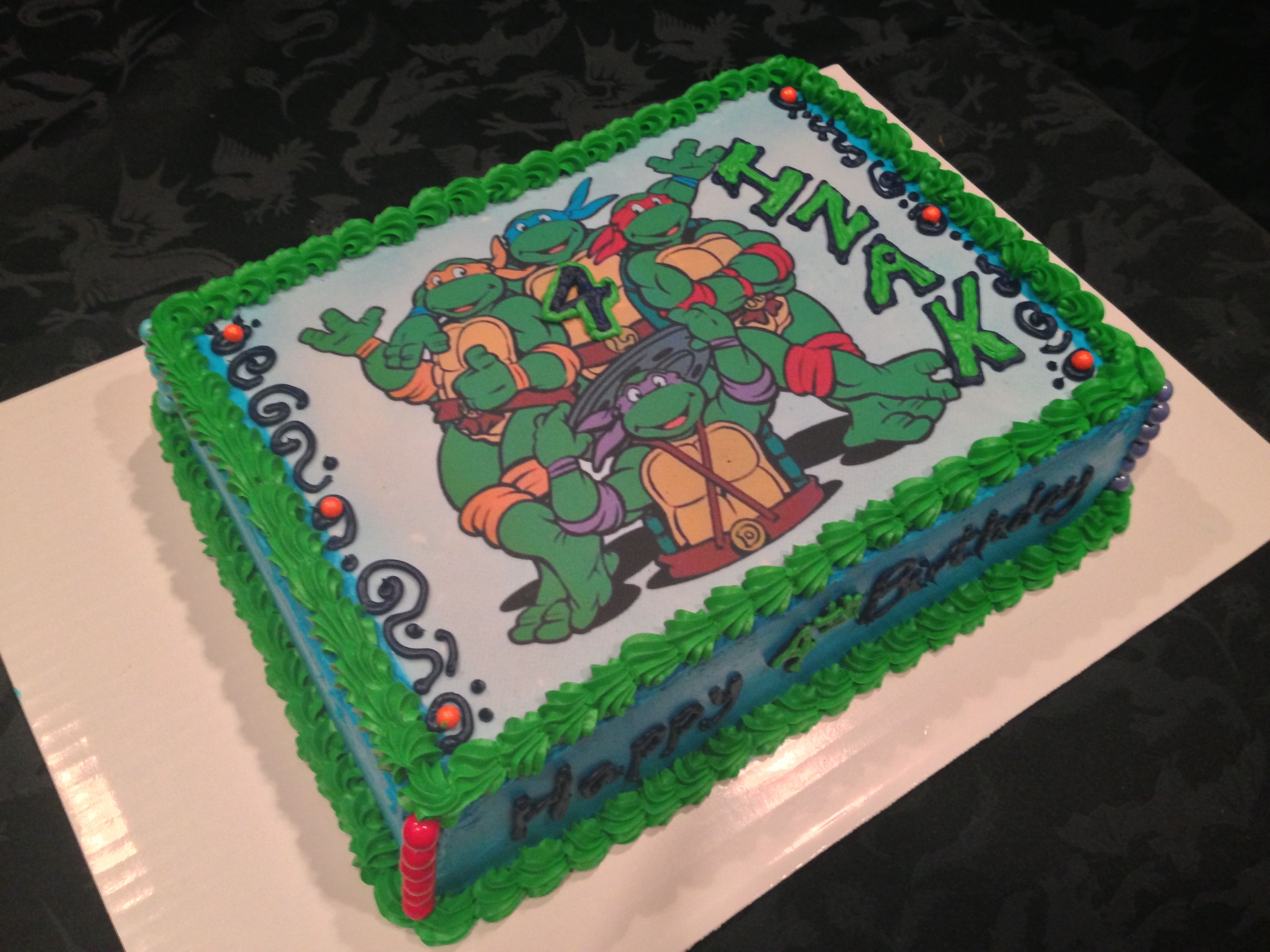 Teenager mutant ninja turtle cake #finishingtouchesbyliz # ...