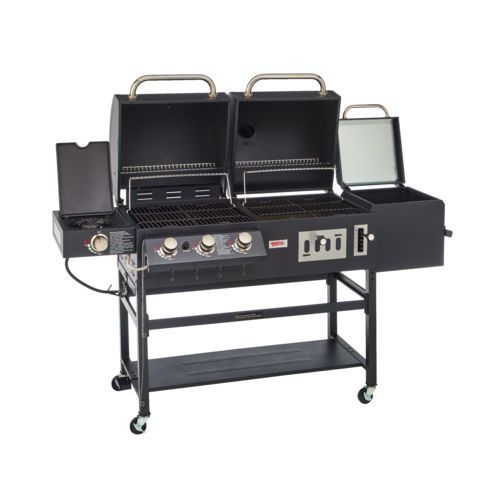 Outdoor Gourmet Pro Triton Classic Gas Charcoal Grill And Smoker Box Gas And Charcoal Grill Outdoor Cooking Grilling