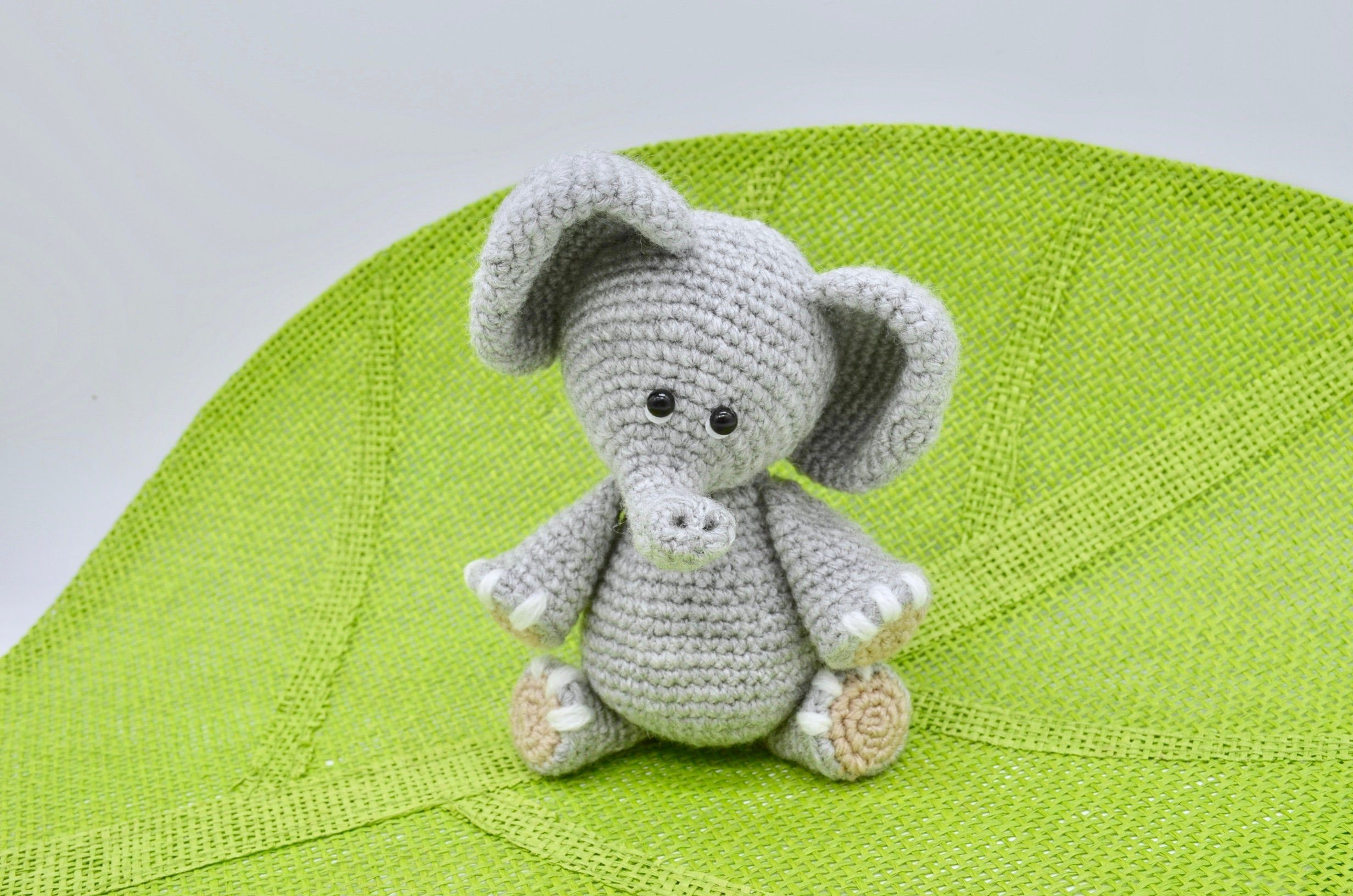 Crochet Elephant Pattern, Crochet Elephant Toy Ellie #crochetelephantpattern Crochet  Elephant Pattern, Crochet Elephant Toy Ellie #crochetelephantpattern