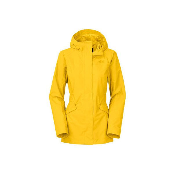 Women's The North Face Kindling Jacket - Freesia Yellow Jackets (£110) ❤ liked on Polyvore featuring the north face