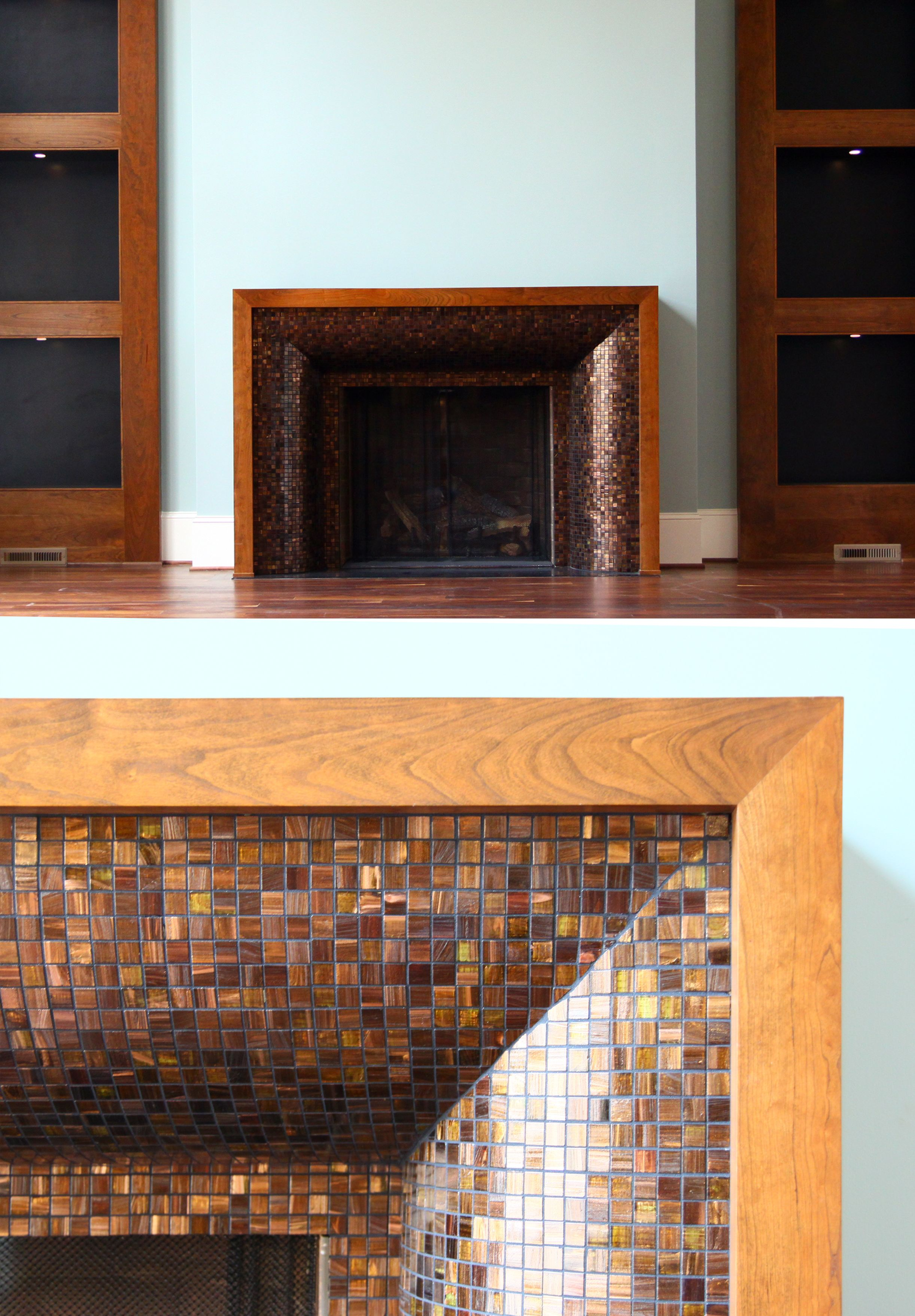 Fireplace By Design Lines Ltd With Gl Tile Surround Judy Pickett Robert Macneill