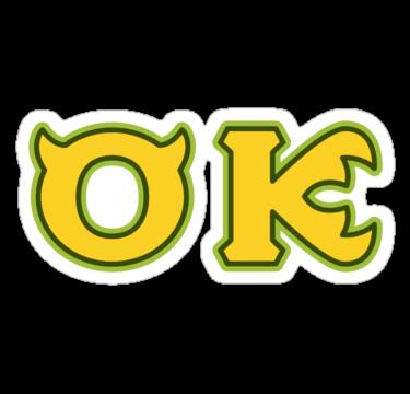 Oozma Kappa Ok Sticker By Teslacake Monster University Disney Scrapbook Monster University Birthday