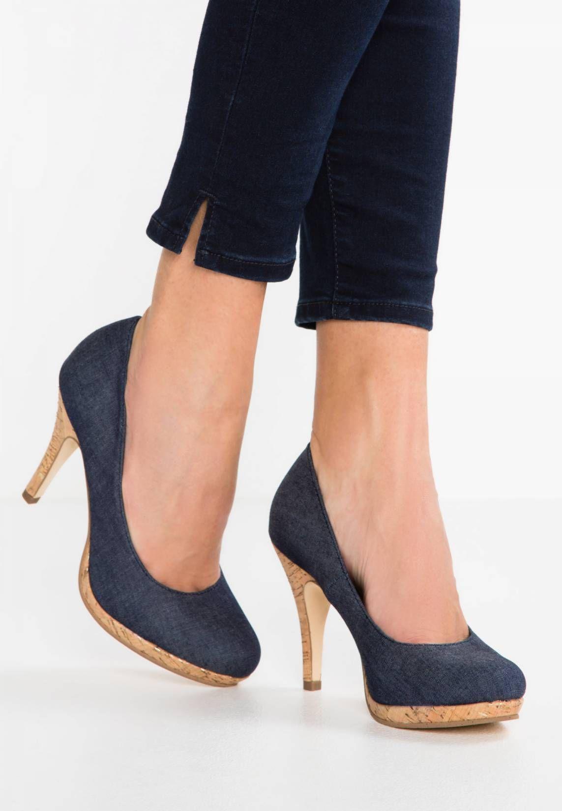 Größe 40 hohes Ansehen reich und großartig Tamaris. High Heel Pumps - navy jeans. #jeans #denim ...