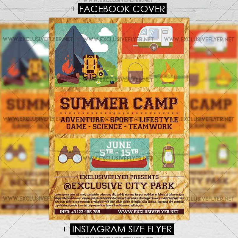 Summer Camp Premium A5 Flyer Template Httpsexclusiveflyer