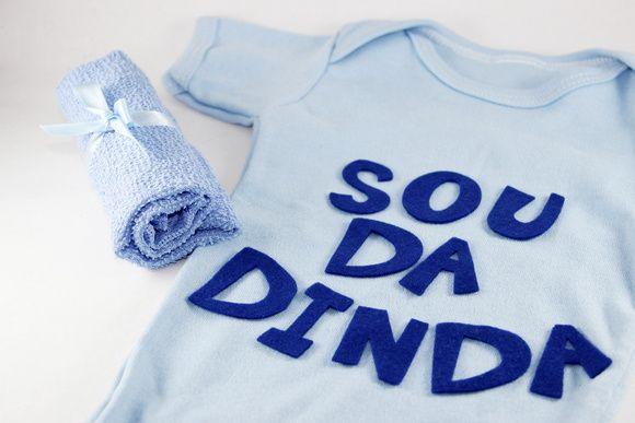 b7064b5e3d Kit Baby - Body Sou da Dinda Meninos