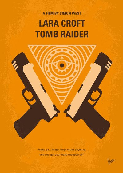 Lara Croft Tomb Raider 2001 Minimal Movie Poster By Chungkong