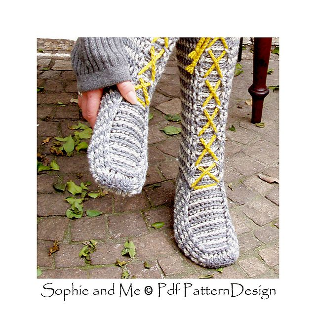 Laced Knee-High Socks pattern by Sophie and Me-Ingunn Santini ...