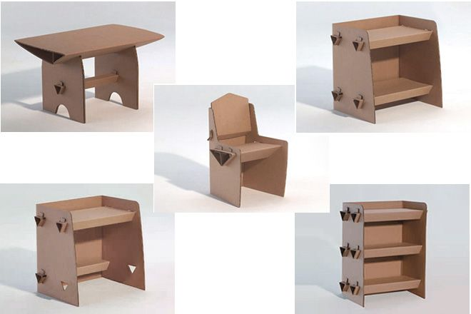 Como hacer muebles de carton para casita de mu ecas - Muebles de carton ...