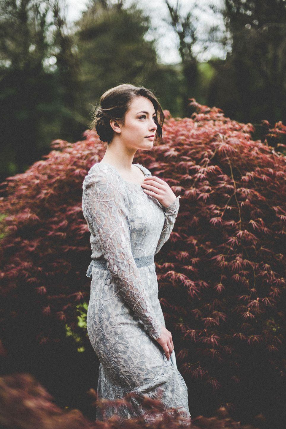 Julie + Ben Pale blue bridesmaid dresses, Woodland