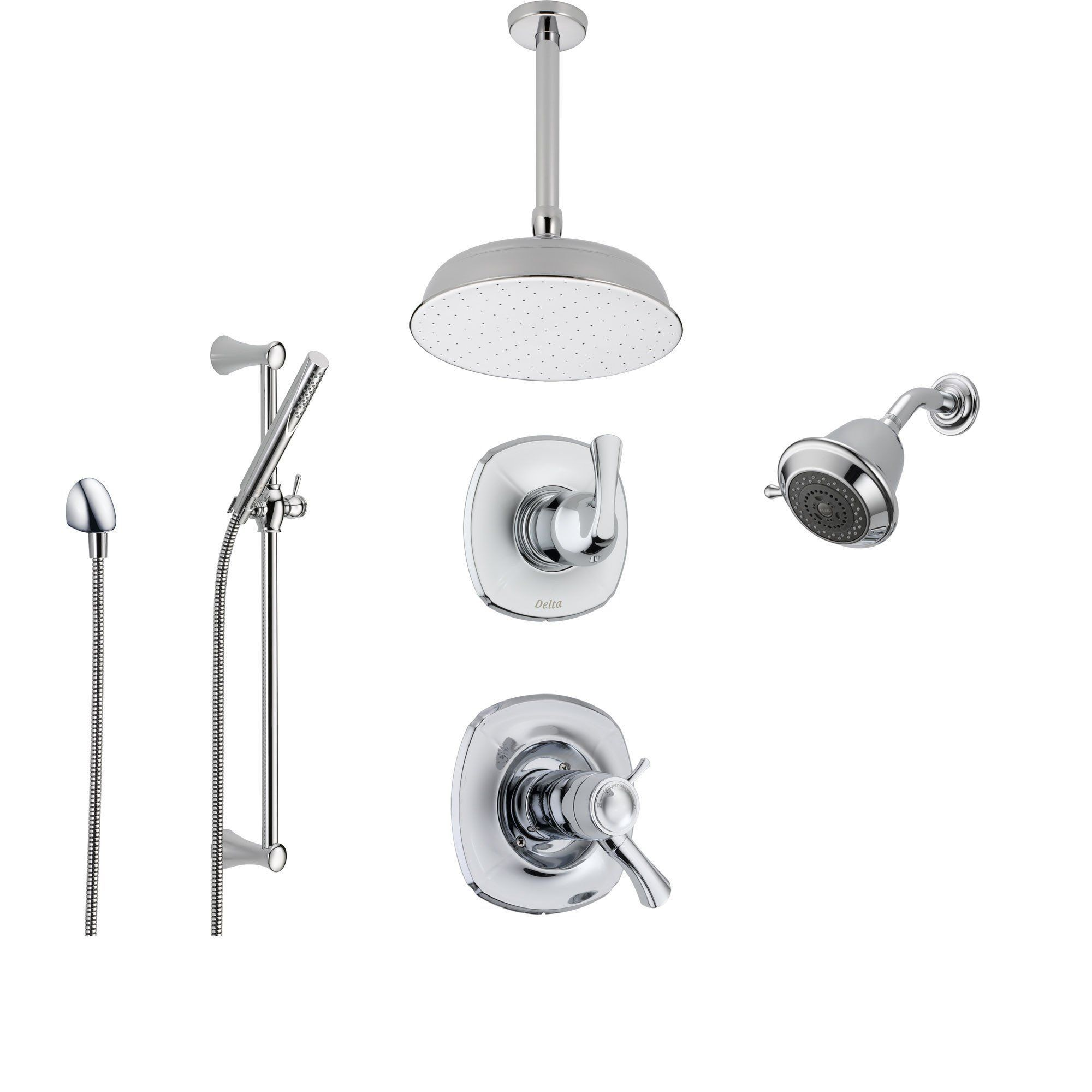 Delta Addison Chrome Shower System With Thermostatic Shower Handle