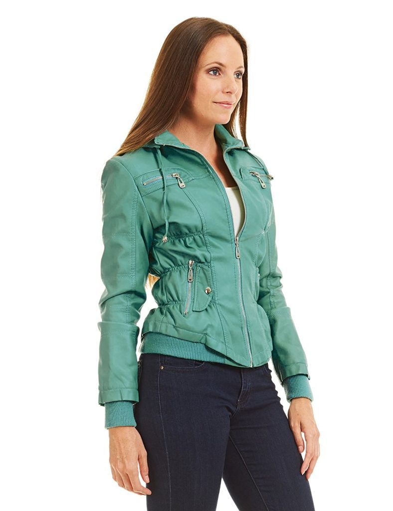 Come Together California Ctc Womens Hooded Brushed Faux Leather Jacket Shop2online Best Woman S Fashion Products Designed To Provide Leather Jacket Coats Jackets Women Faux Leather Jackets [ 1024 x 788 Pixel ]