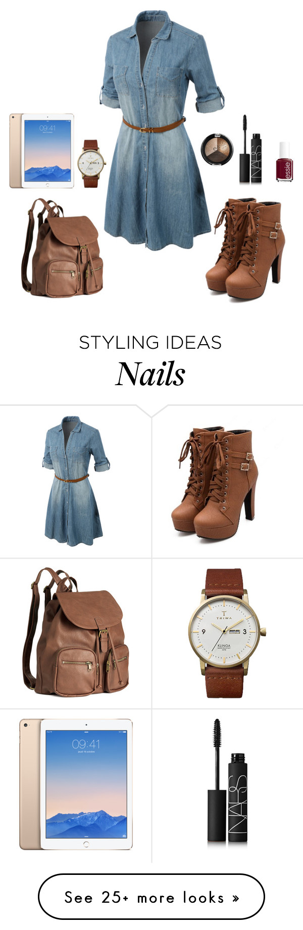 """""""Step by Step"""" by estrella-eor on Polyvore featuring LE3NO, H&M, Triwa, NARS Cosmetics and Essie"""