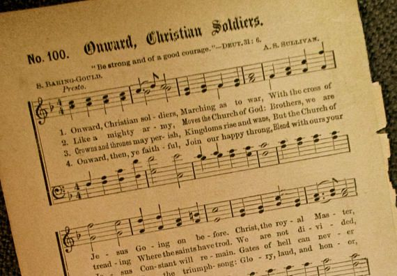 Onward christian soldiers 1887 antique hymnal sheet music christian onward christian soldiers 1887 antique hymnal sheet music christian gifts gospel hymns jesus resurrection easter gift negle Images