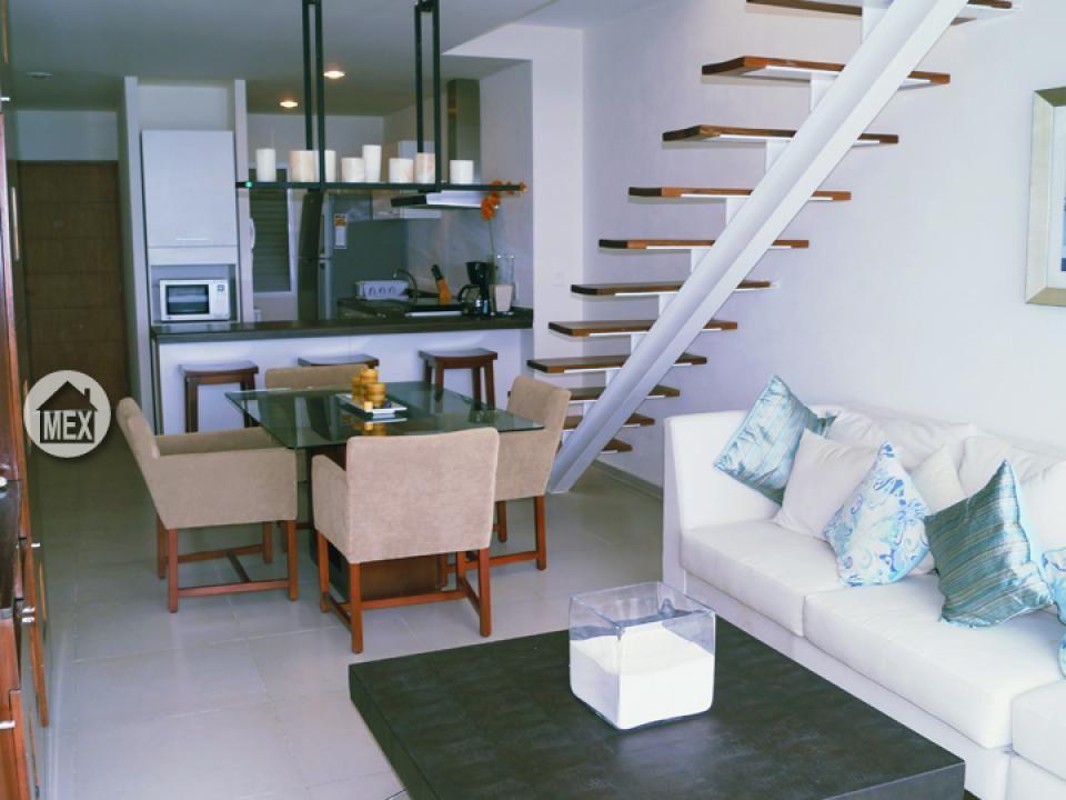 The 2 bedrooms penthouse unit; has a roof terrace/solarium. Amara Cancún; Cancun real estate