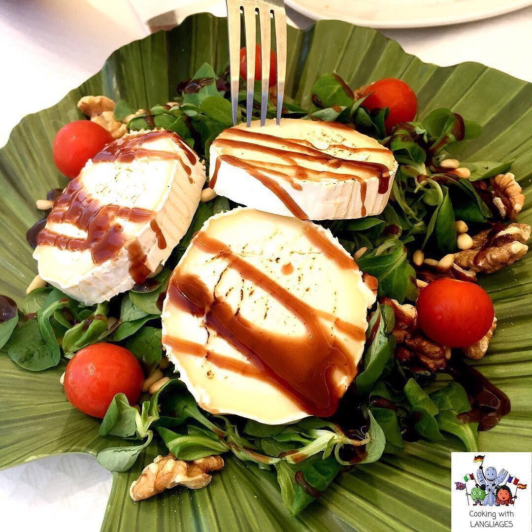 A Delicious Goat S Cheese Salad Ensalada De Queso De Cabra
