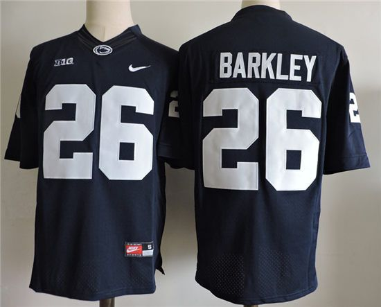 official photos 13e2e bc650 Men's Penn State Nittany Lions Nike Navy Blue #26 Saquon ...