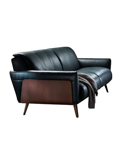 Attrayant Brands | Sofas | Roma Leather Sofa With Wood Panel On External Arm |  Hudsonu0027s Bay