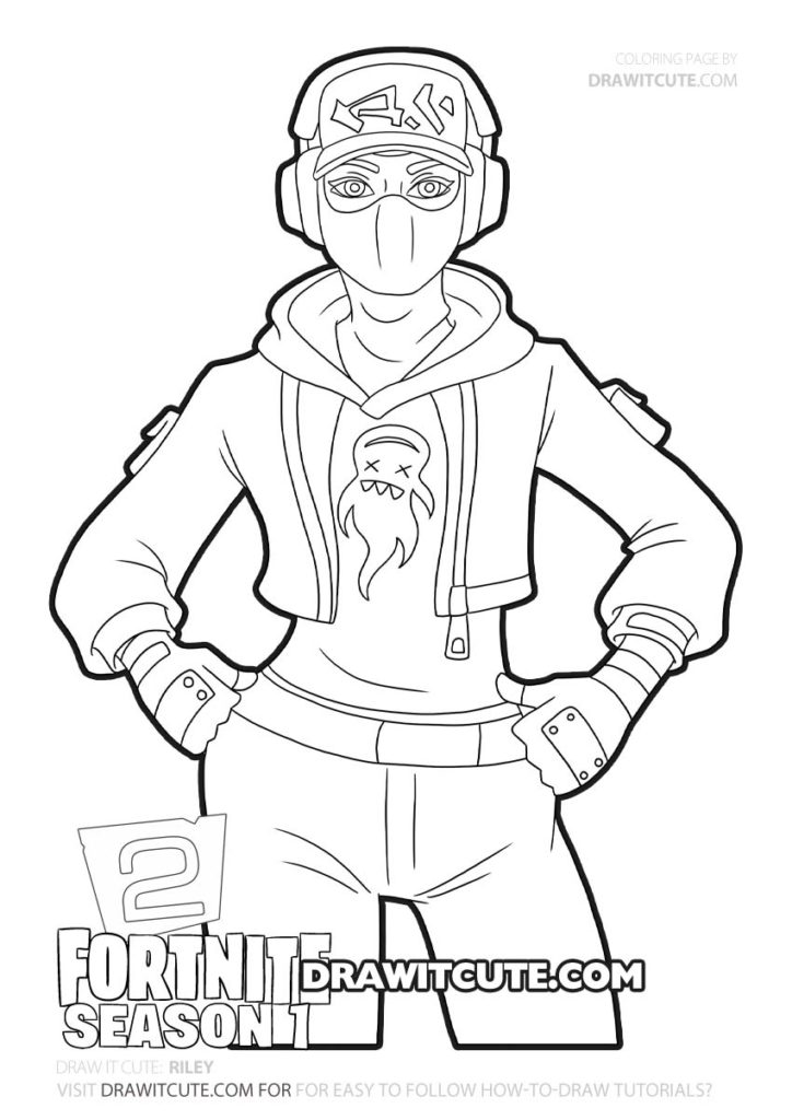 Riley Fortnite Chapter 2 Coloring Page Draw It Cute Cute Coloring Pages Coloring Pages For Boys Drawings