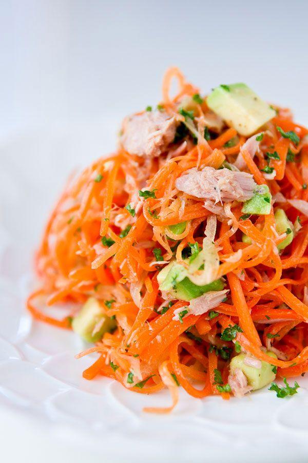 Carrot Salad Recipe with Avocado and Tuna