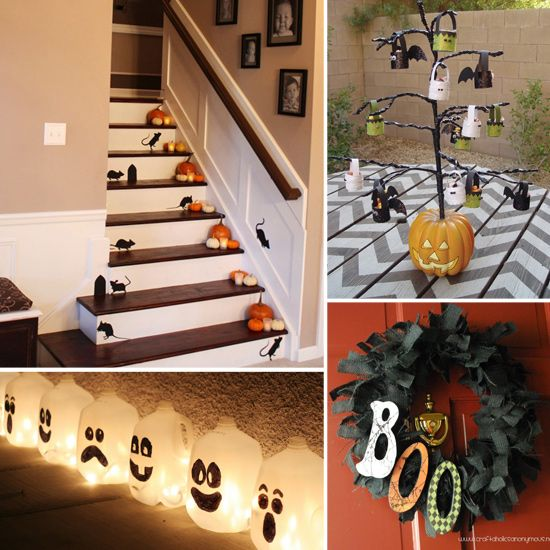 30 Inspiring DIY Halloween Decorations Daily source for - halloween milk jug decorations
