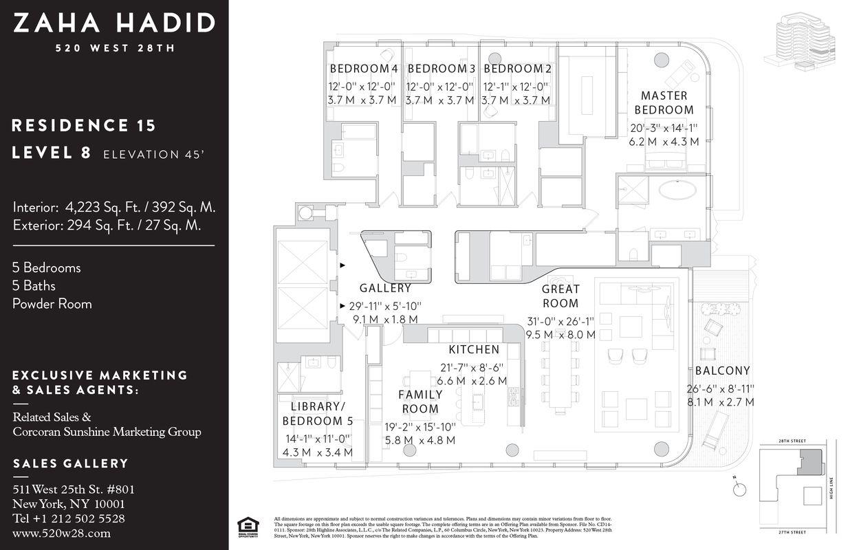 Floorplan For 520 West 28th Street 15 We Celea