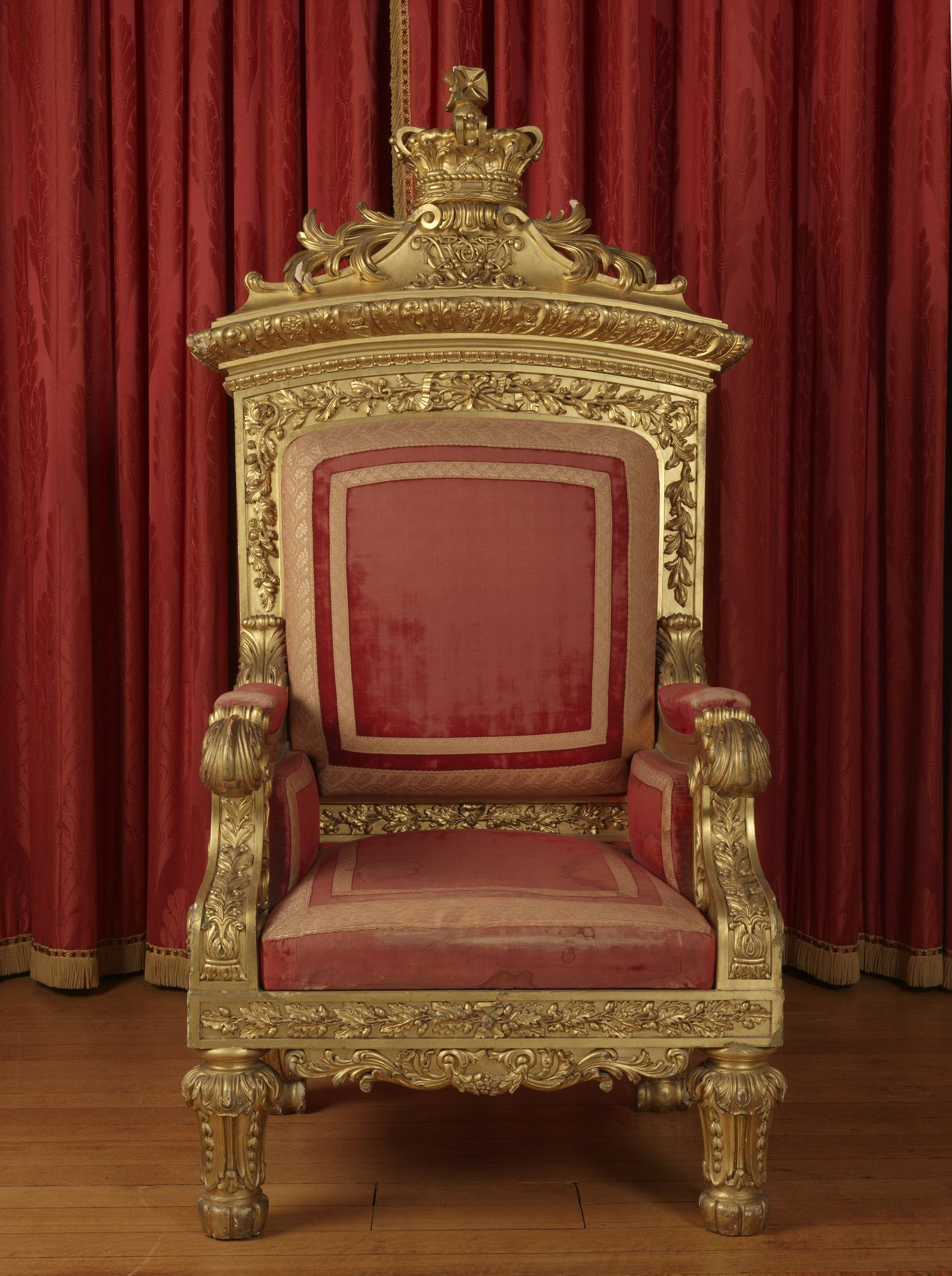 King And Queen Chairs For Rent Rocking Chair Cushions Set Indoor Victoria 39s Throne Made Her Coronation In 1837