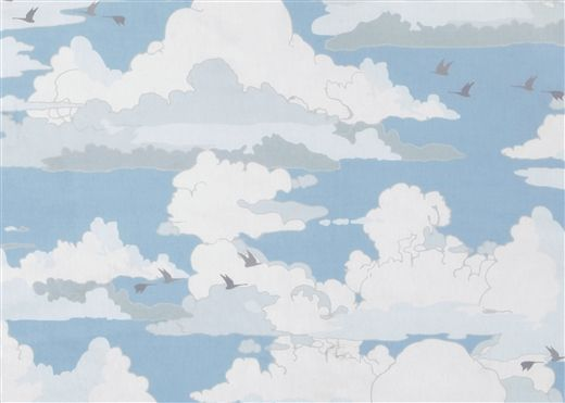 Landscape Cloudy SKY cotton fabric from Makower Size55cm x 50cm larger available