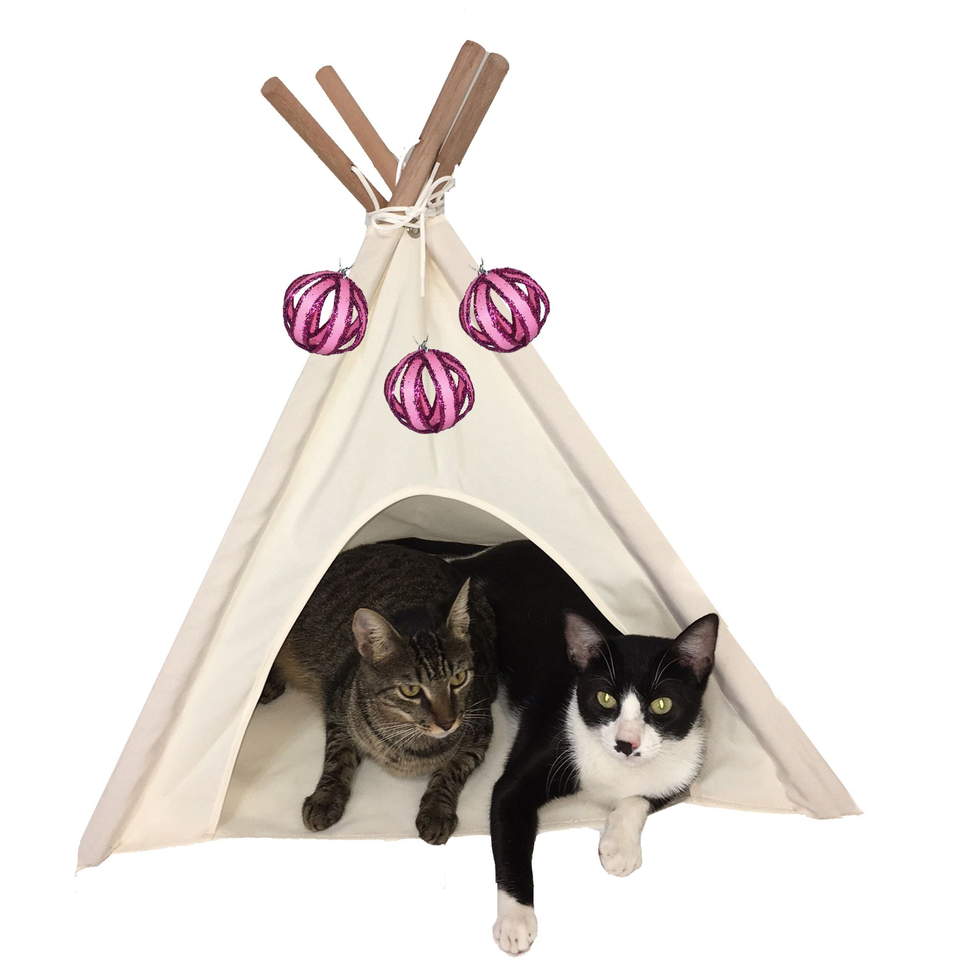 Idea by DT Home Furnishing on Creamy white cat tent Cat