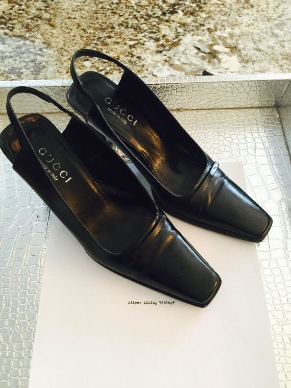 7688bb8bd Gucci shoes Vintage Gucci black vintage shoes by silverliningretro