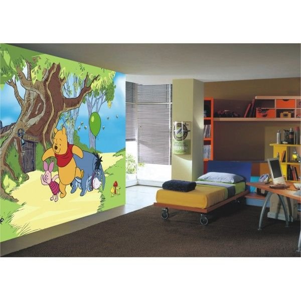 fresque murale disney winnie l 39 ouson et ses amis en papier peint poster g ant fresques. Black Bedroom Furniture Sets. Home Design Ideas