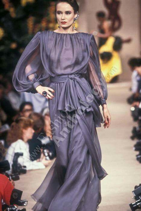 03994329048 Yves Saint Laurent | Fall 1987 | Look Book - Sultry Femme Fatale in ...