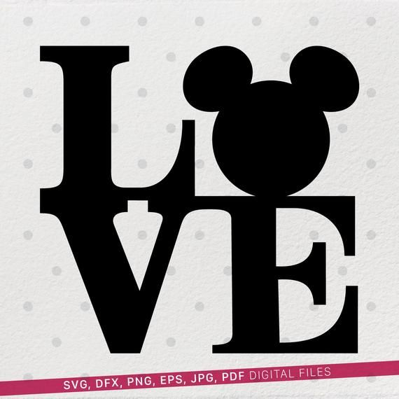 Download Mickey svg, Disney Mickey Mouse, Love svg files for cricut ...