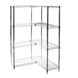 Shelving Inc Si 8 D X 30 W X 96 H Chrome Wire Shelving Add On Unit With Four Shelves Would Need Additional Shelv Wire Shelving Bathroom Shelving Unit Shelves