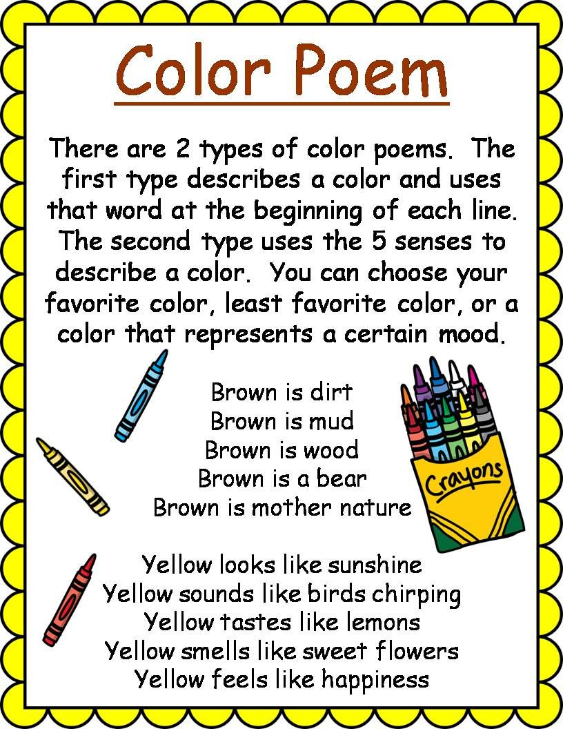 Types of Poems for Kids : Vibrant Teaching  Types of poems