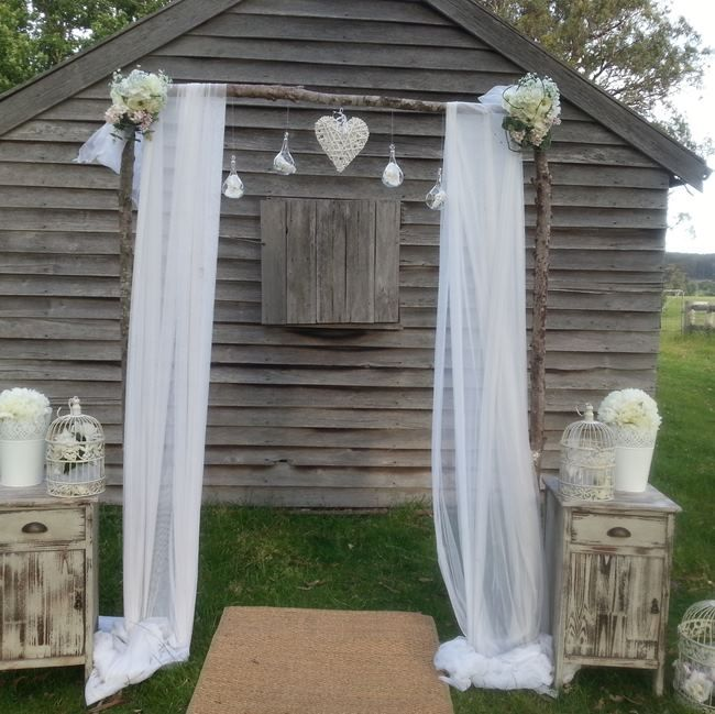 Inspiration White Floral Arches And Garden Elegance