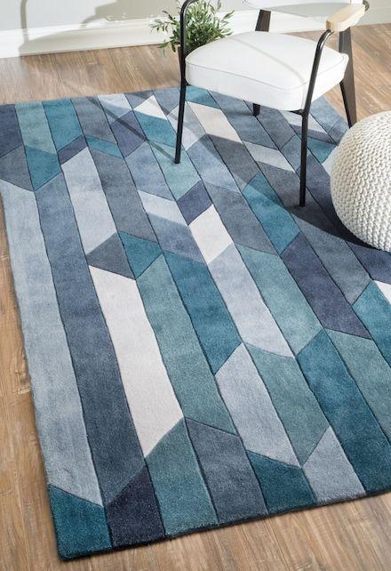 Keno Color Block Panels Blue Rug Rugs Geometric Rug Geometric Area Rug