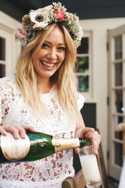 Hilary Duff At Haylie Duff S Baby Shower Bridal Shower Flowers