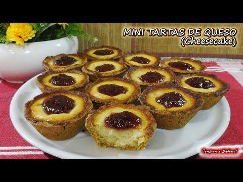 Mini Tartas De Queso Cheesecake Fáciles Y Deliciosas Youtube Tartas Tartas Caseras Tartaletas Dulces