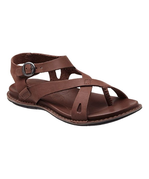 b5eb0a60aae2 Look at this KEEN Drum Alman Ankle-Strap Leather Sandal - Women on  zulily  today!