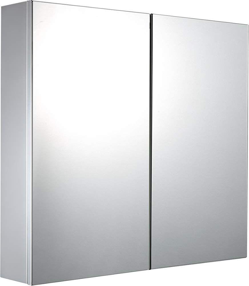 Mari Home Badezimmerschrank Mit Spiegel Edelstahl Spiegelschrank