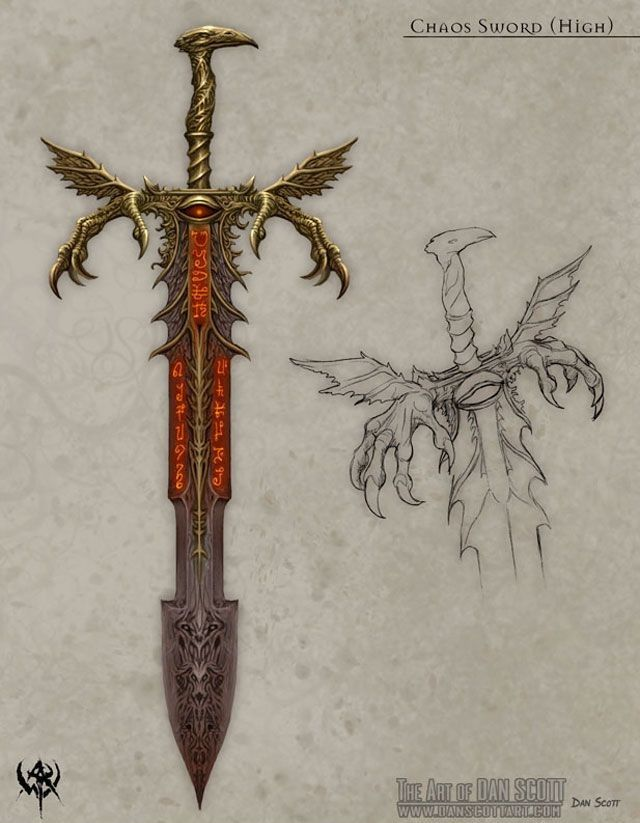 chaos blade | Just for fun in 2019 | Weapon concept art