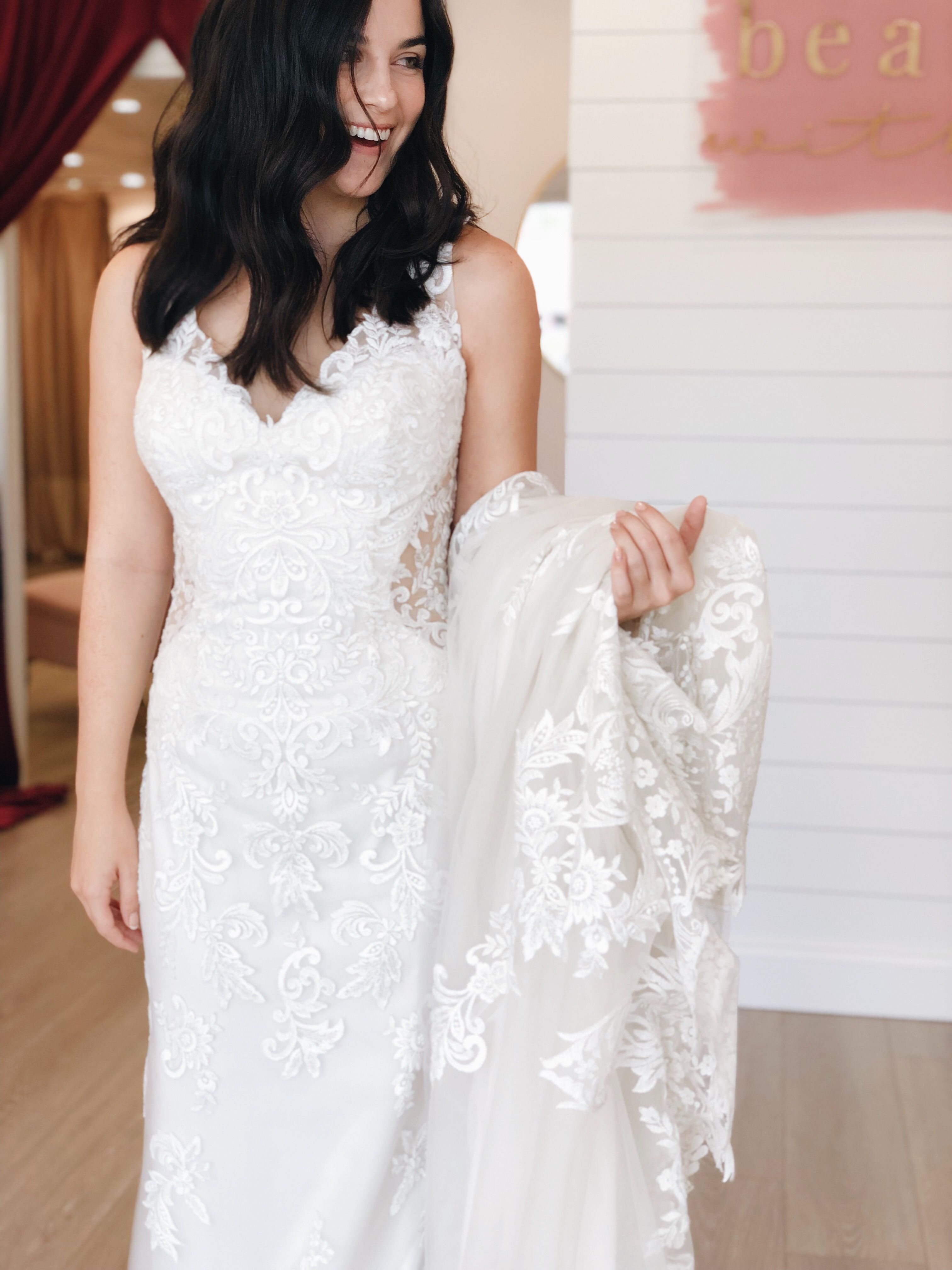 Big Smiles While Trying On Weddingdresses At Our Fernandina
