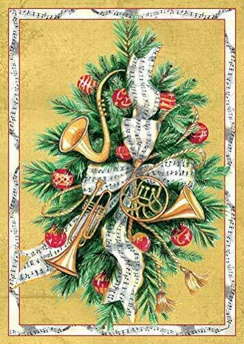 2020 Boxed Christmas Cards Caspari Boxed Christmas Cards, 4.25