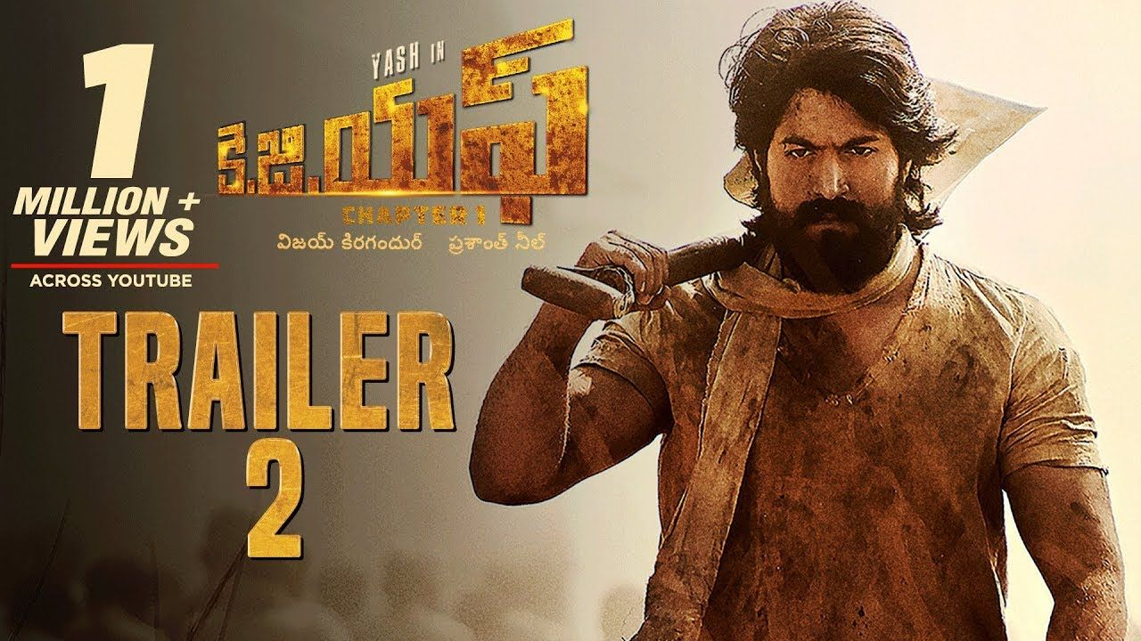 Kgf Official Telugu Trailer 2 Yash Srinidhi Shetty Prashanth Neel Vijay Kiragandur Watch Kgf Official Trail Official Trailer Movie Dialogues Trailer 2